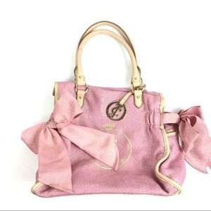 Juicy Couture Pink Gold Bow Detail Hobo Purse